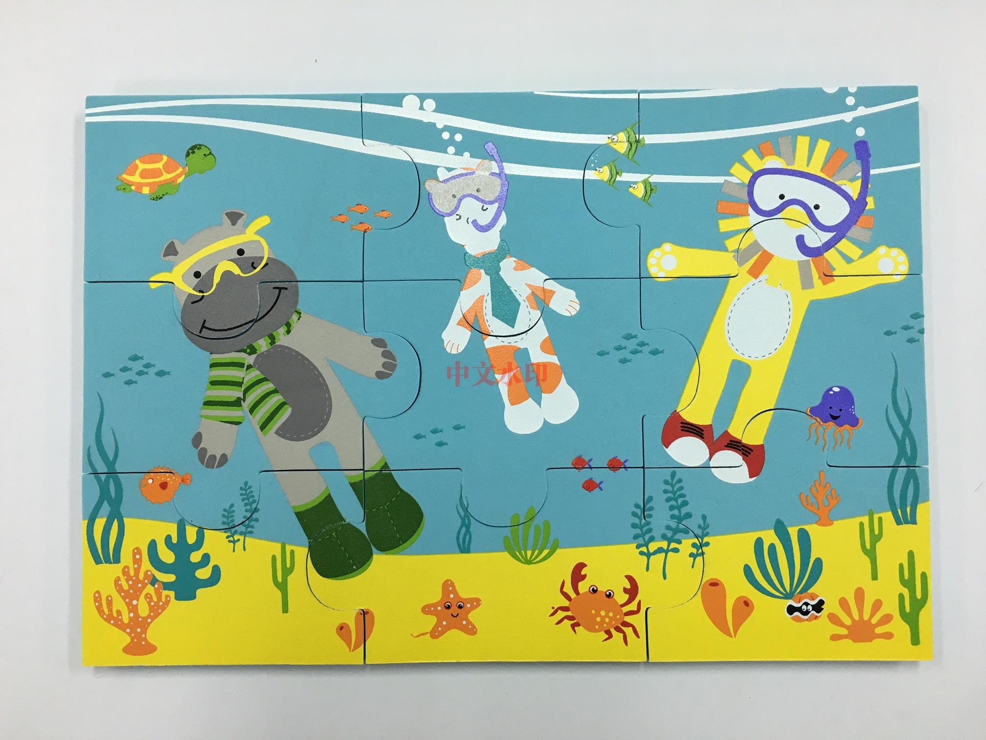 海景别墅拼图模型步骤
