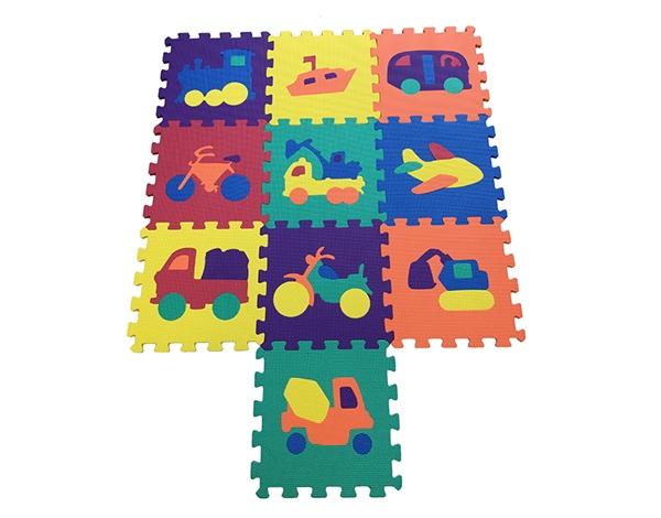 交通工具拼图地垫