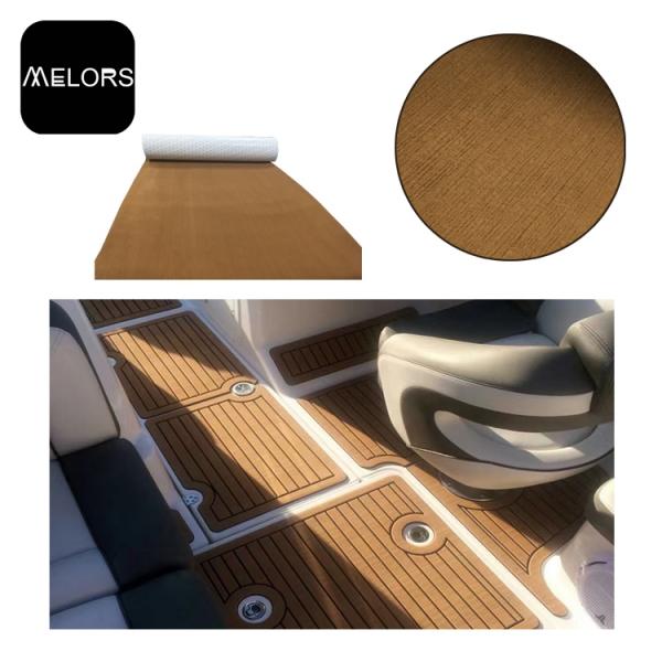 游泳池游艇EVA人造柚木地板甲板复合地板双色船垫