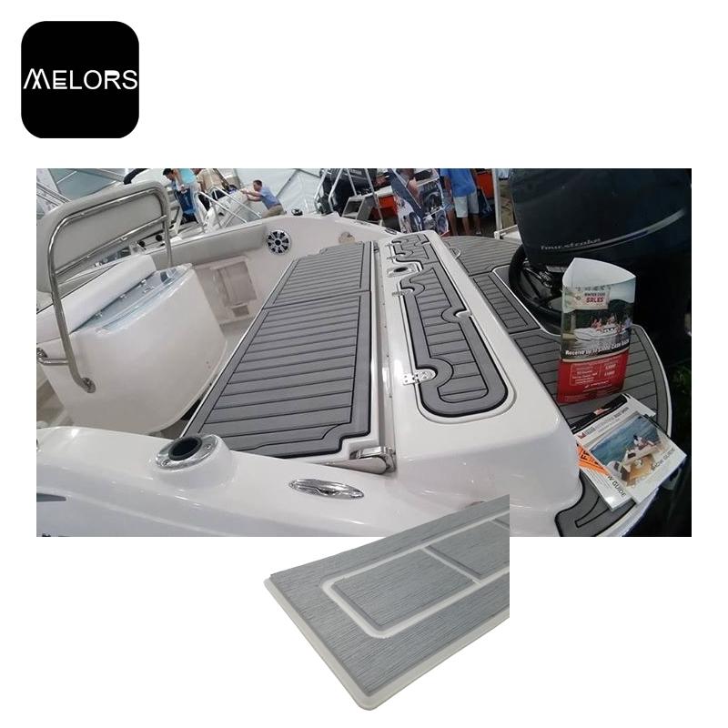 观光船钓鱼船玻璃钢公务艇EVA仿柚木地板CNC定制