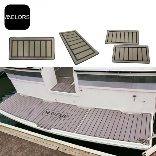 CNC定制塑胶复合地热船游艇EVA仿柚木地板船垫